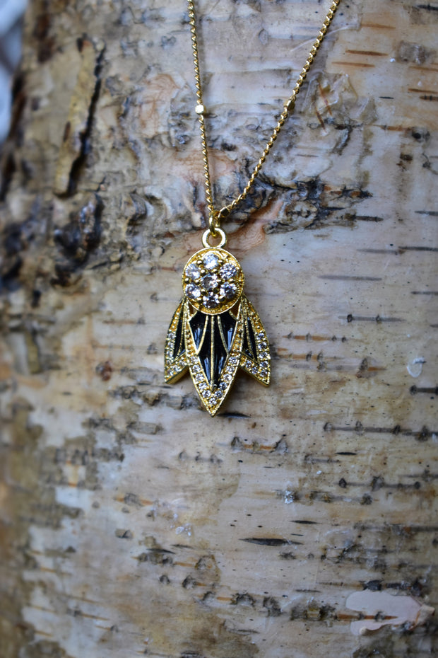 TIGER LILY NECKLACE /// BLACK