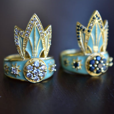 TIGER LILY RING /// LAGOON GREEN