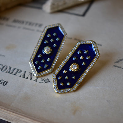 ELOISE EARRINGS /// LAPIS BLUE
