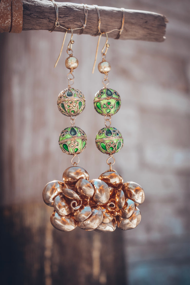 CHRYSANTHEMUM EARRINGS