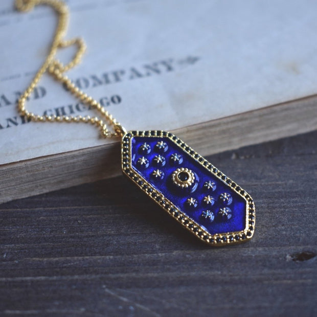 ELOISE NECKLACE /// LAPIS BLUE
