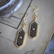 ELOISE DANGLE EARRINGS /// BLACK