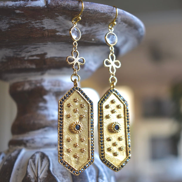 ELOISE DANGLE EARRINGS /// GOLD
