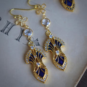 SERENDIPITY DANGLE EARRINGS /// LAPIS BLUE