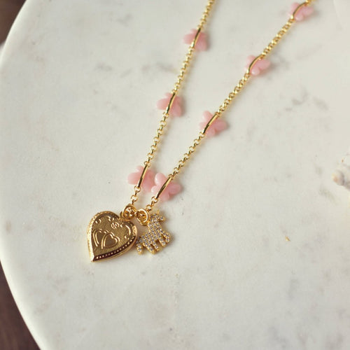 PENNY LOVE LOCKET NECKLACE