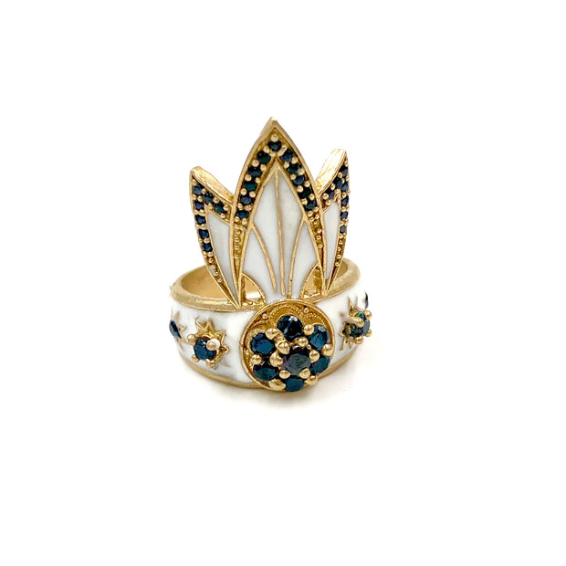 TIGER LILY RING /// WHITE