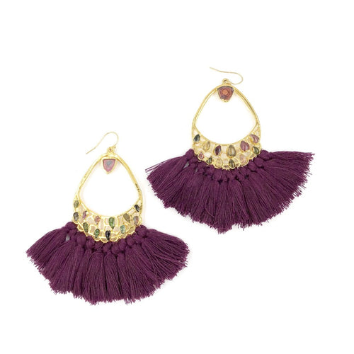 FREYA FRINGE EARRINGS