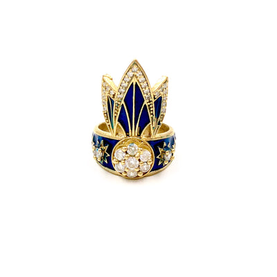 TIGER LILY RING /// LAPIS BLUE