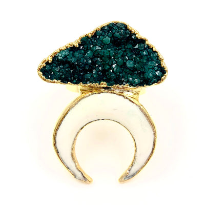 ATHENA RING /// GREEN DRUZY