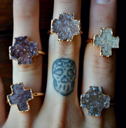 DRUZY CROSS RING