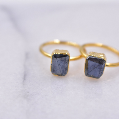 ICE BLOCK RING /// BLACK