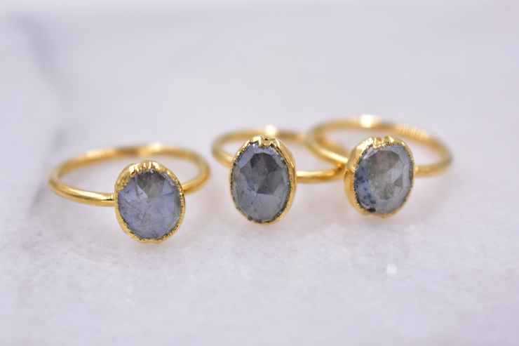 FROST RING /// GREY SILVERITE
