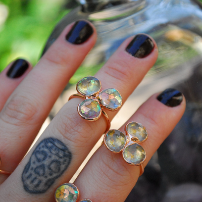MYSTIC FLOWER RING /// MYSTIC QUARTZ