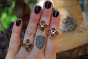 SMOKEY FLOWER RING /// SMOKEY QUARTZ