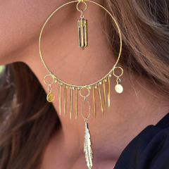 ALECTRONA HOOP EARRINGS /// GOLD