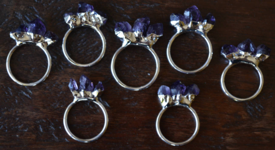AMETHYST MOUNTAIN RING
