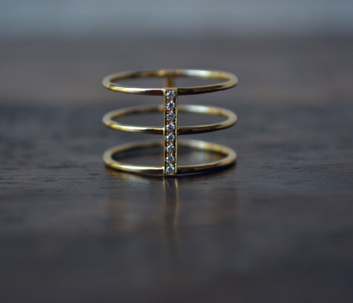 DIAMOND CAGE RING