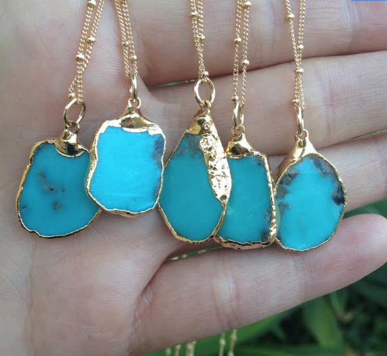 MEDIO AQUA NECKLACE /// GOLD