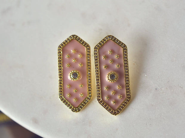 ELOISE STUDS /// PINK