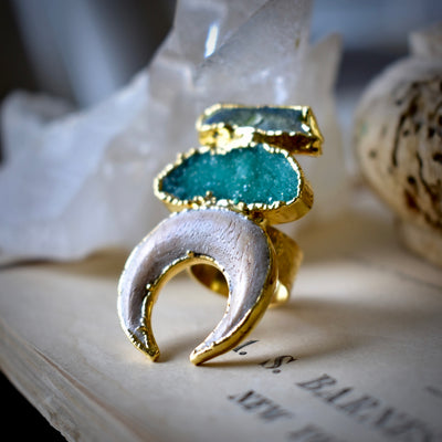 ALLEGRA RING /// GREEN DRUZY