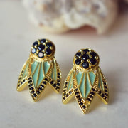TIGER LILY STUDS /// LAGOON GREEN