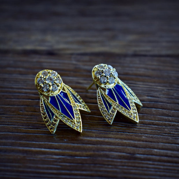 TIGER LILY STUDS /// LAPIS BLUE
