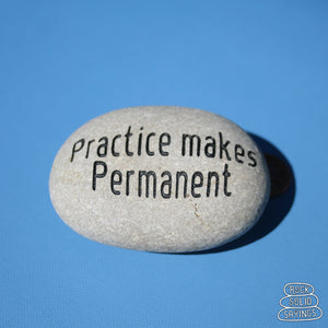 Practice makes Permanent - Deeply Engraved Natural Stone