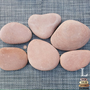 Red Skipping Stone - Personalized Engraving