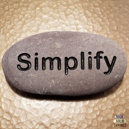 Simplify - Deeply Engraved Natural Stone