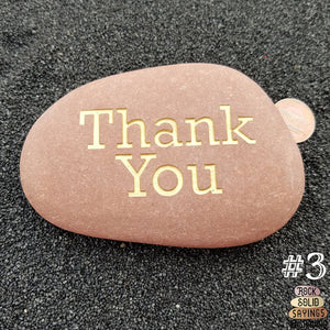 Thank You - Deeply Engraved Natural Stones