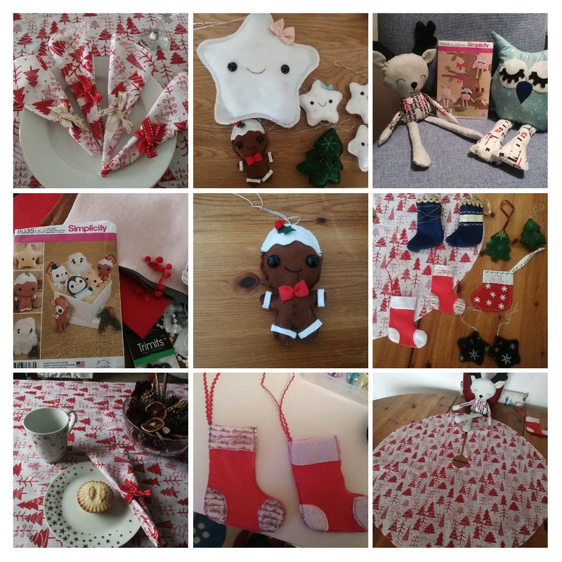 Easy to sew Christmas decorations and table wear