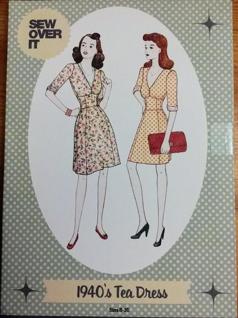 1940's Fashion and Sew Over It Tea Dress Pattern Review