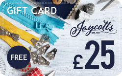 Jaycotts £25 gift card free when you buy sewing machine or overlocker