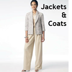 Range of coat and jacket sewing patterns