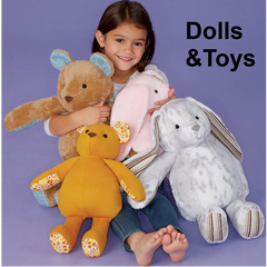 Dolls, toys and other fun patterns from Jaycotts.co.uk