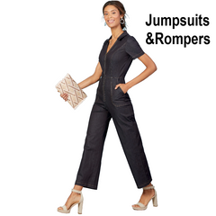 Jumpsuit patterns and sewing patterns for rompers and play suits - buy now at Jaycotts