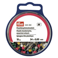 Colourful plastic head pins, Prym Quality at Jaycotts - sew happy