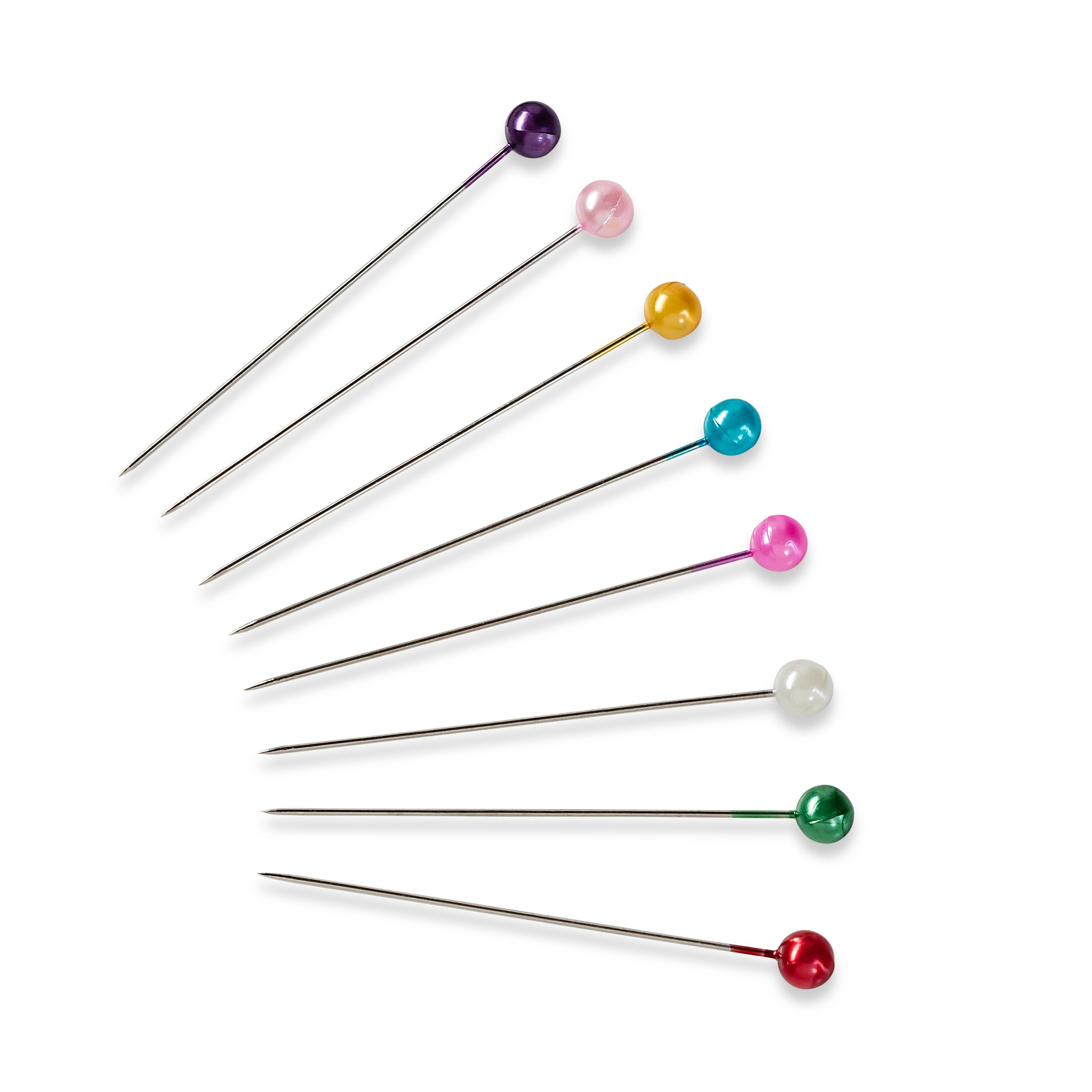 quality dressmaking pins with bright 'pearl' heads