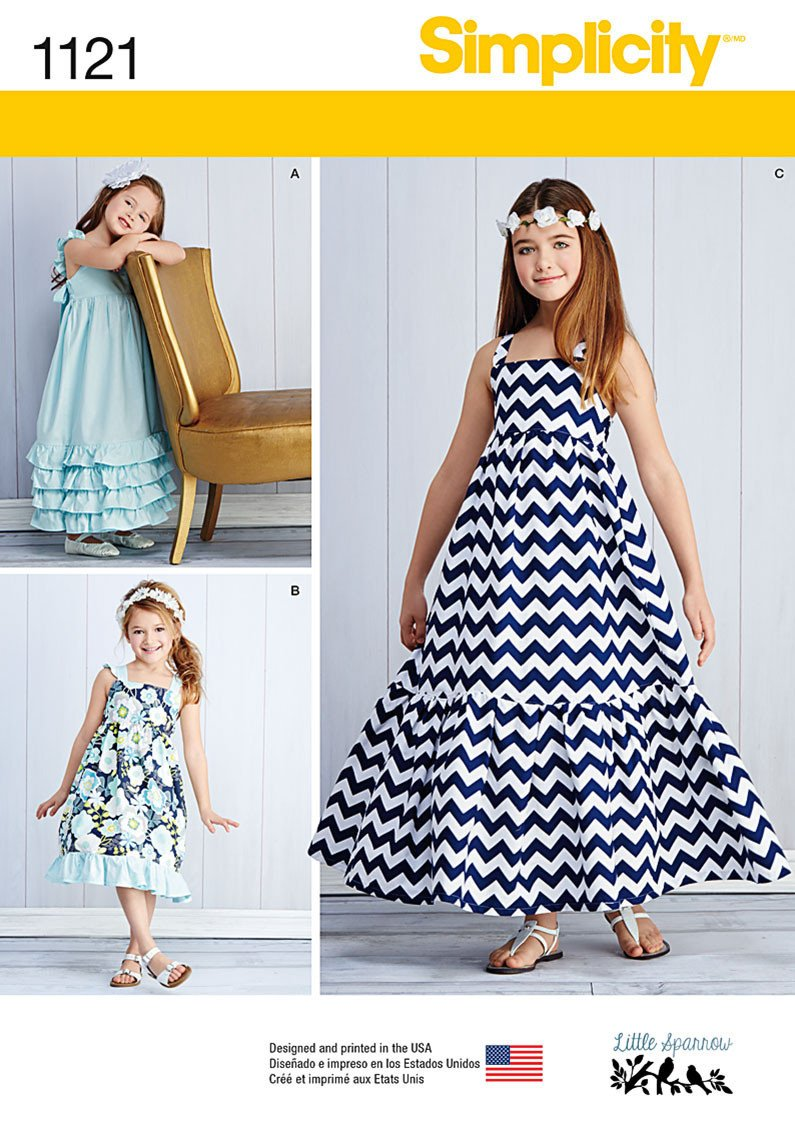 S1121 Child's and Girls' Pullover Dresses