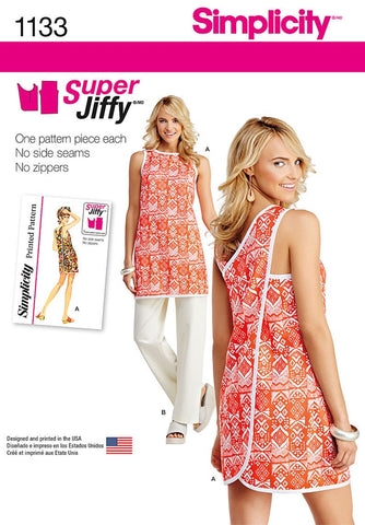 S1133 Misses' Super Jiffy Tunic and Pants