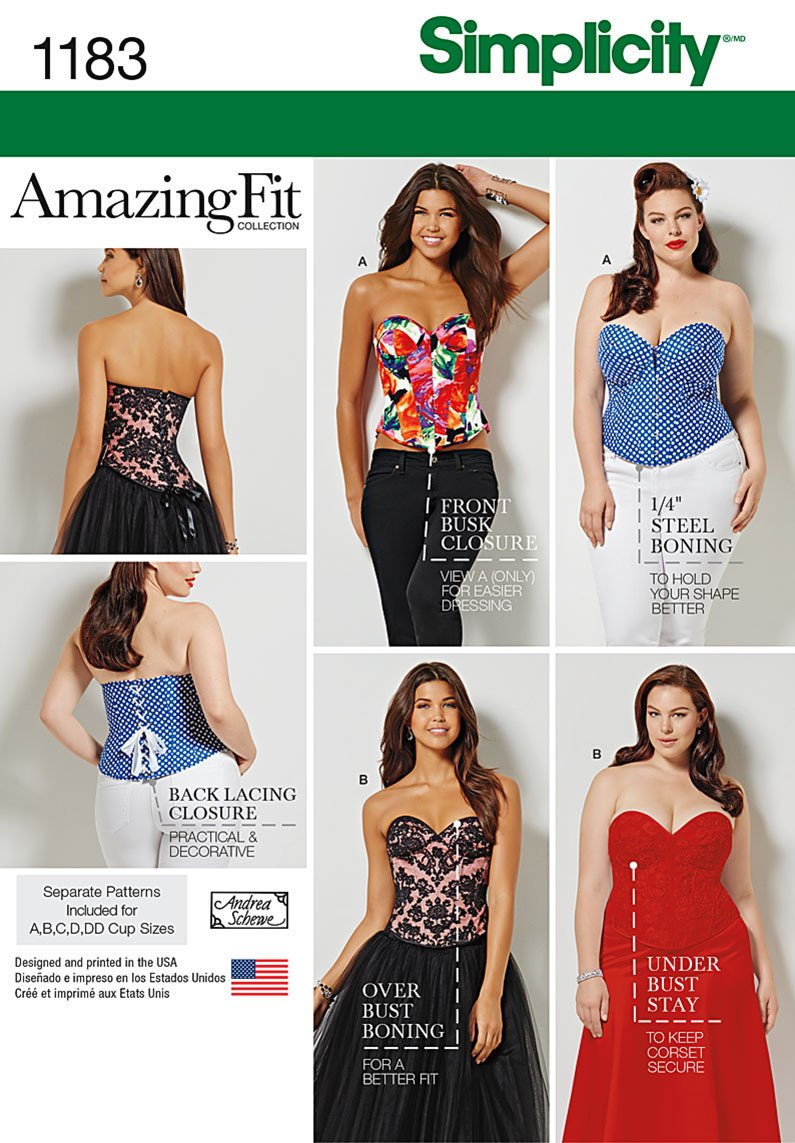 S1183 Misses' and Plus Size Corsets