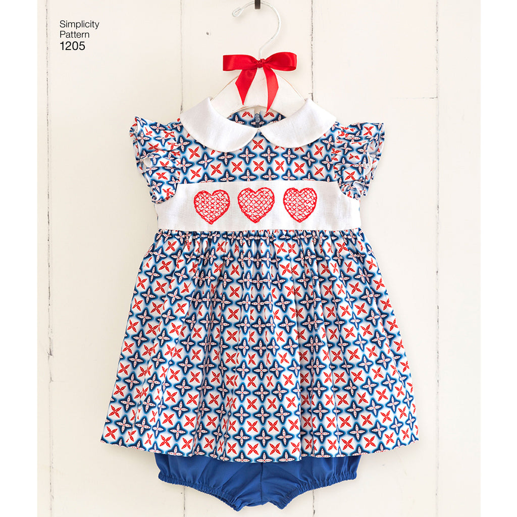 Simplicity Pattern 1205 Baby Dresses