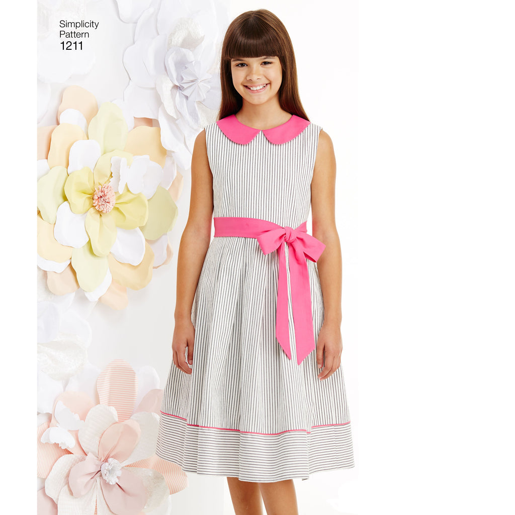 Simplicity Pattern 1211 Girls' Dresses Pattern from Jaycotts Sewing Supplies
