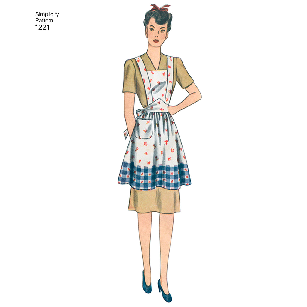 Simplicity Pattern 1221 Vintage 40's Aprons from Jaycotts Sewing Supplies