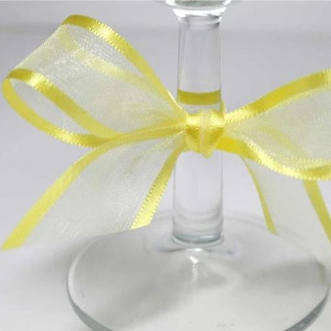 Satin Edge Organza Ribbon | Yellow