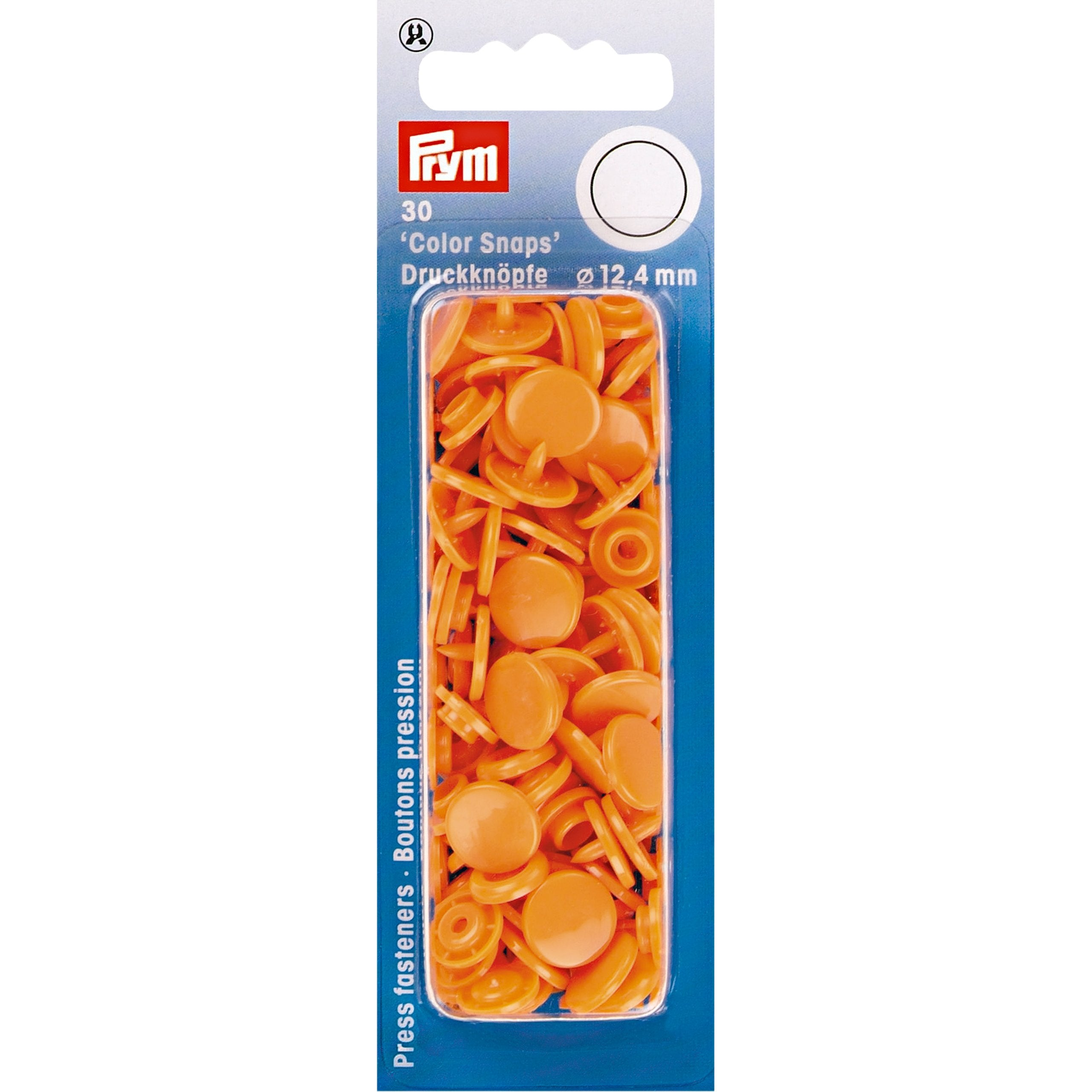 Prym Colour Snaps - Orange - Packs of 30