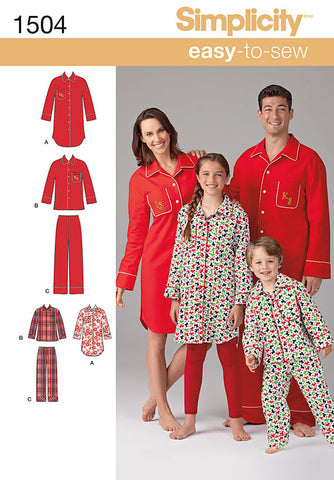 S1504 Child's, Teens' & Adults' Loungewear | Easy