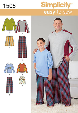 S1505 Husky Boys' & Big & Tall Men's Tops & Pants | Easy