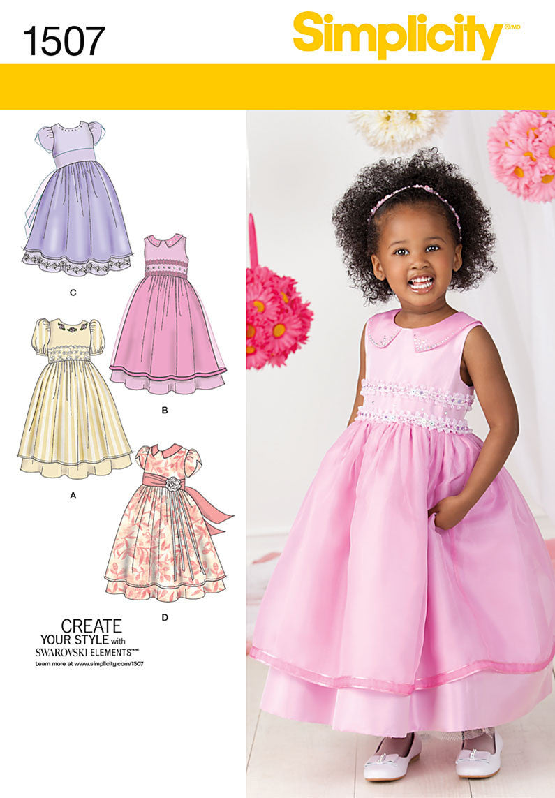 Simplicity Pattern 1507 Toddlers' & Child's dress