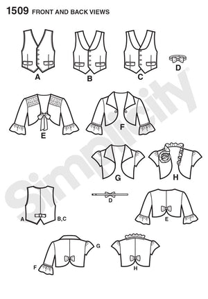 Simplicity Pattern 1509 Boy's bow tie and vest from Jaycotts Sewing Supplies